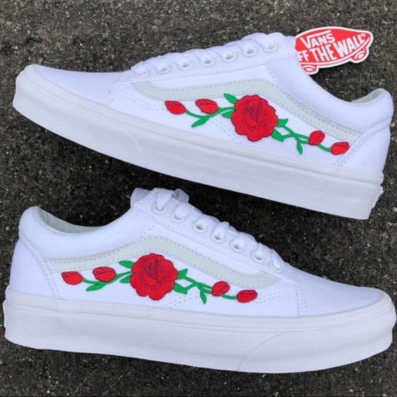 f1080bfbcc3b2 PRICE FIRM::Custom Vans w/ 3 Choices in Rose Color